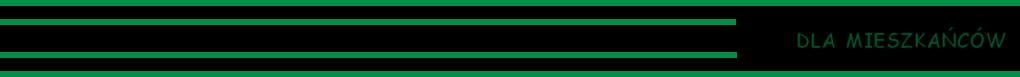 Cztery zielone linie - dla mieszkańców